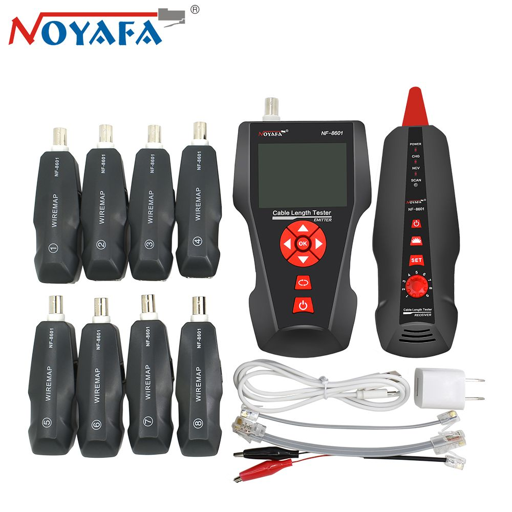 Original Noyafa NF-8601W RJ45 for BNC PING POE RJ11 Telephone Diagnose Tone Detector Line Wire Tracker LAN Network Cable Tester