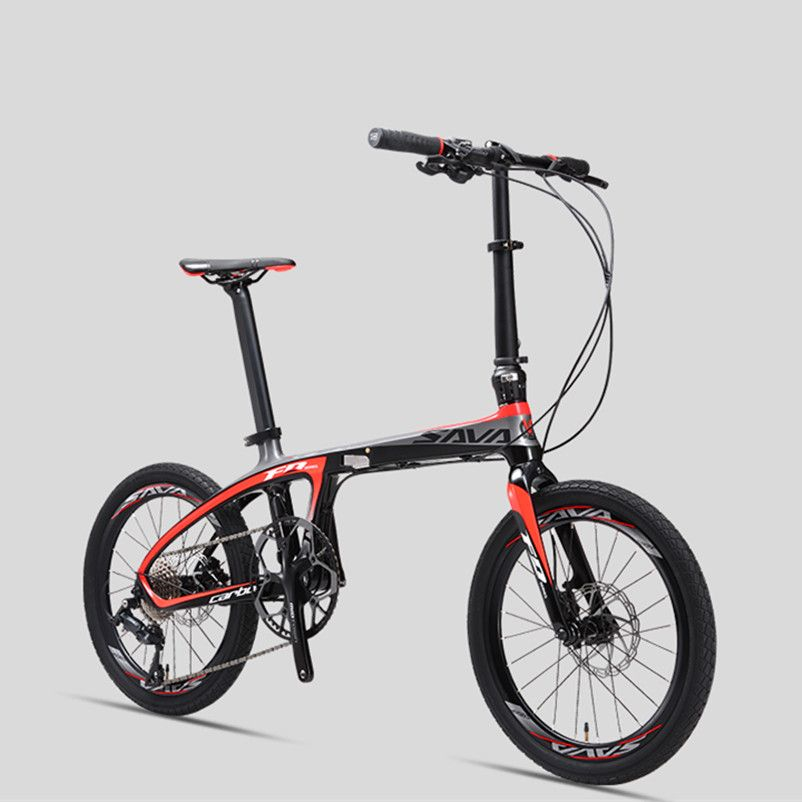 New Brand Carbon Fiber light folding bicycle outdoor sports 20 inch Alumunium wheel 9/20/22 speed bicicleta dual Oil disc bike