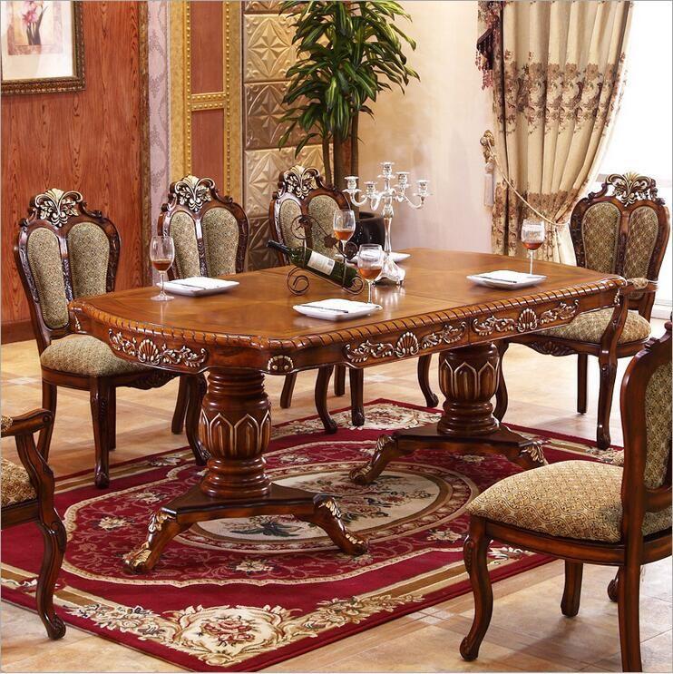 Moderne Stil Italienischen Esstisch, 100% Massivholz Italien Stil Luxus Esstisch o1092