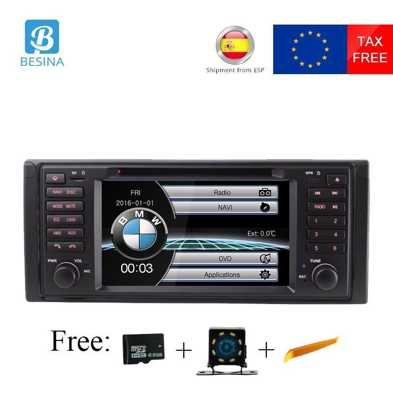 Besina 1 Din Car Radio For BMW E39 X5 M5 E53 Car Multimedia DVD Player GPS Navigation Canbus Stereo Auto audio RDS USB FM Camera