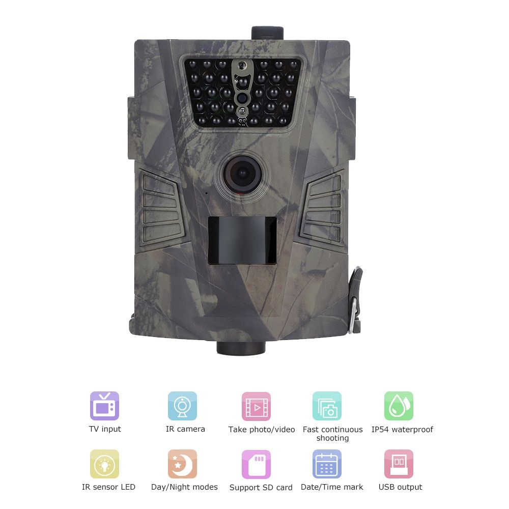 HT - 001 720P Hunting Camera Trap Digital Trail Camera HD PIR sensor 90 Degree 32GB IR LEDs Wild Camera Outdoor Trail Device