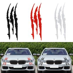 40cm*12cm Car Reflective Monster Sticker Black/Red Scratch Stripe Claw Marks Car Auto Headlight Vinyl Decal Car Styling