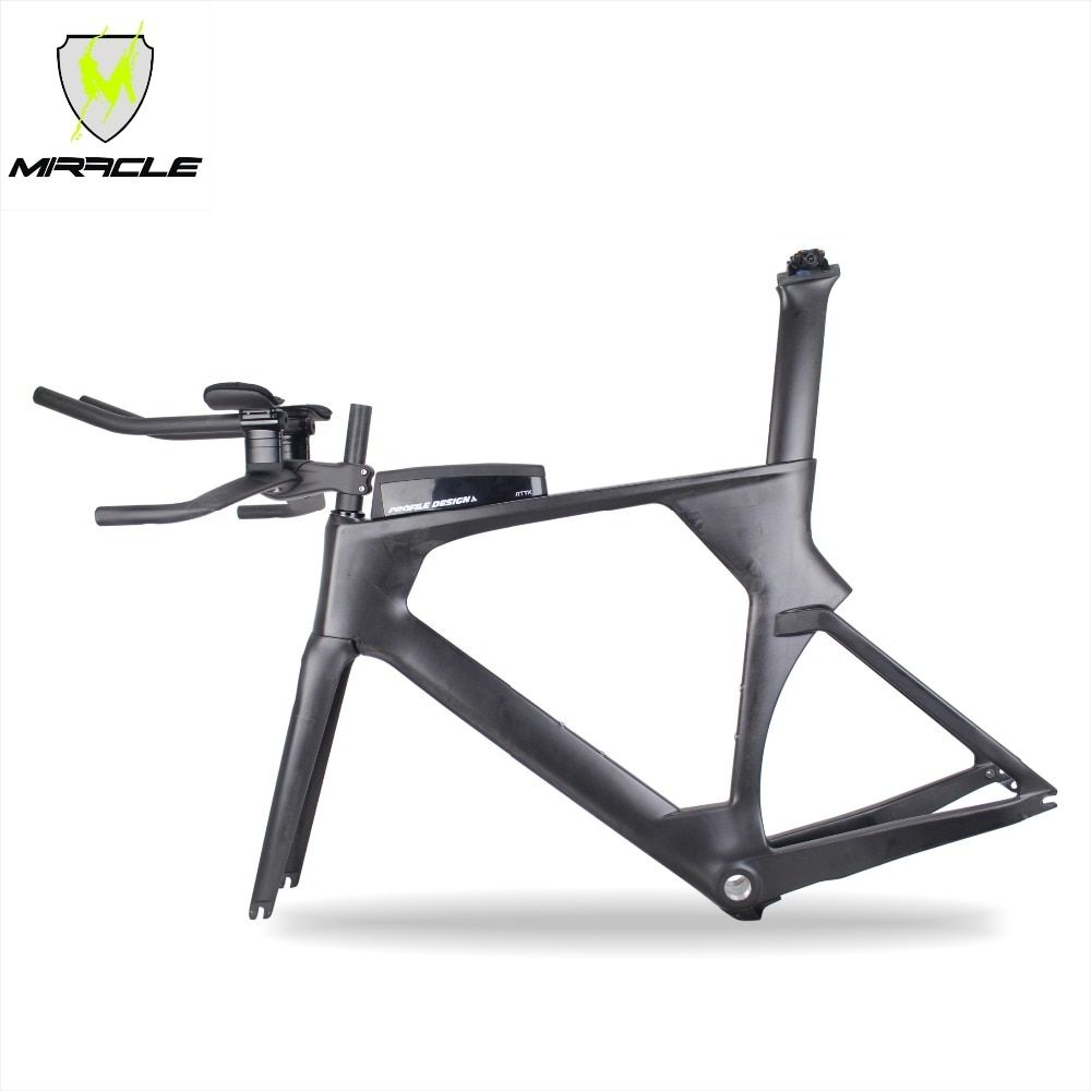 2018 new AERO version Triathlon Bikes 49/52/54/56cm light Carbon time trial Frame tt095 Chinese BICICLETA Carbon TT Frame