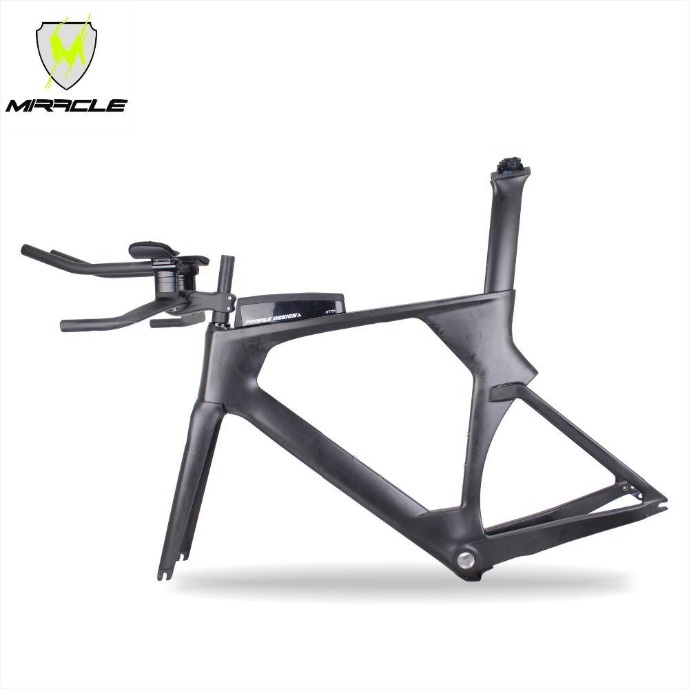 2018 new AERO version Triathlon Bikes 49/52/54/56cm light Carbon time trial Frame tt095 Chinese BICICLETA Carbon TT Frame