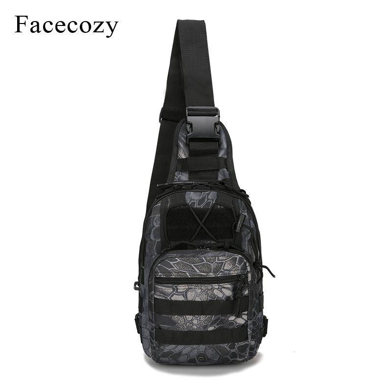 Facecozy sac de pêche militaire en plein air imperméable à l'eau escalade sac à dos épaule tactique Camping sac à dos Camouflage sac de pêche