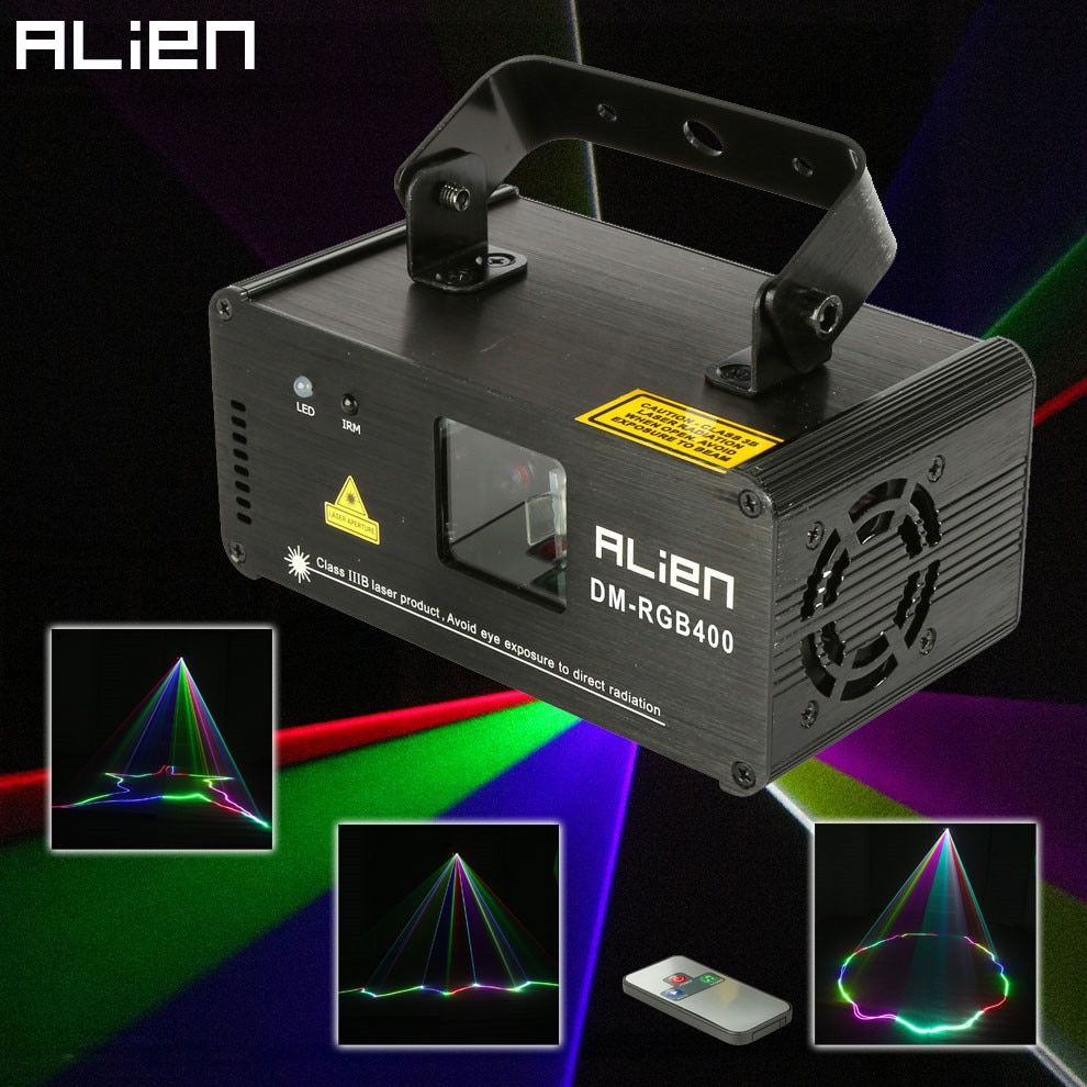 ALIEN Remote RGB 400mw DMX512 Laser Line Scanner Stage Lighting Effect Projector Light DJ Dance Bar Xmas Party Disco Show Lights
