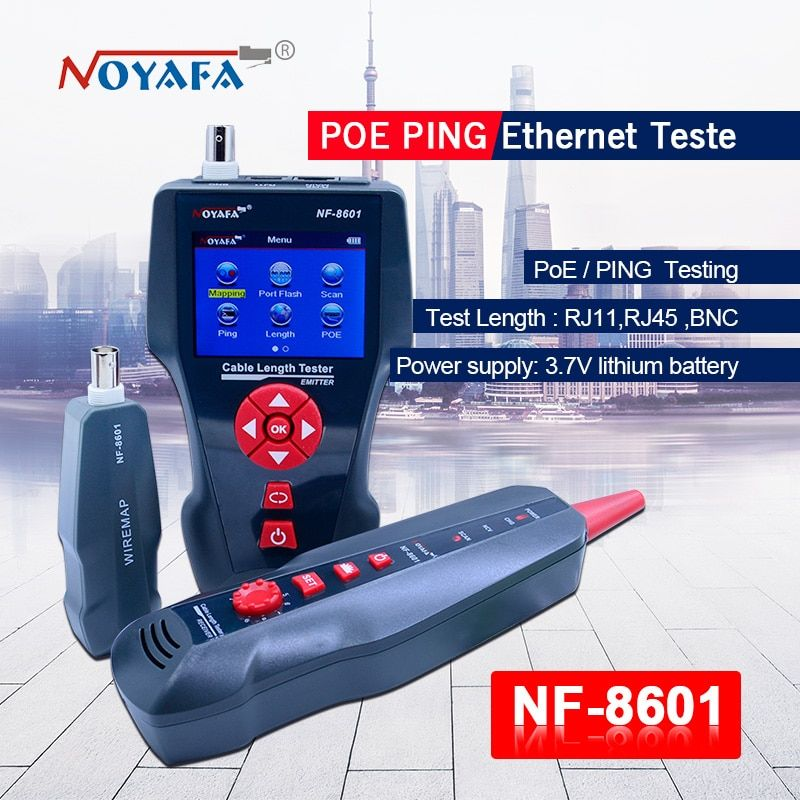 New NF-8601 Multi-functional Network Cable Tester LCD Cable length Tester Breakpoint Tester English version