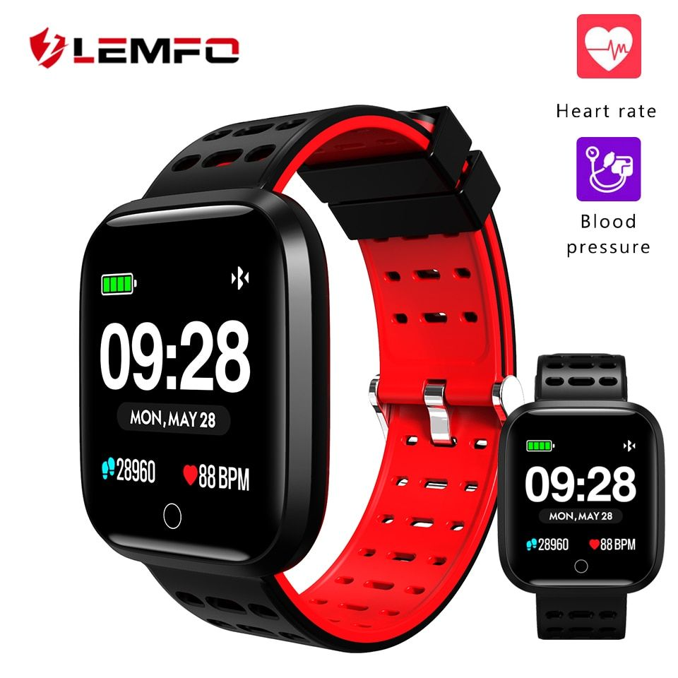 LEMFO Fitness Bracelet Fitness Tracker Pedometer Heart Rate Monitoring Blood Pressure Monitoring Waterproof IP67 Smart Bracelet