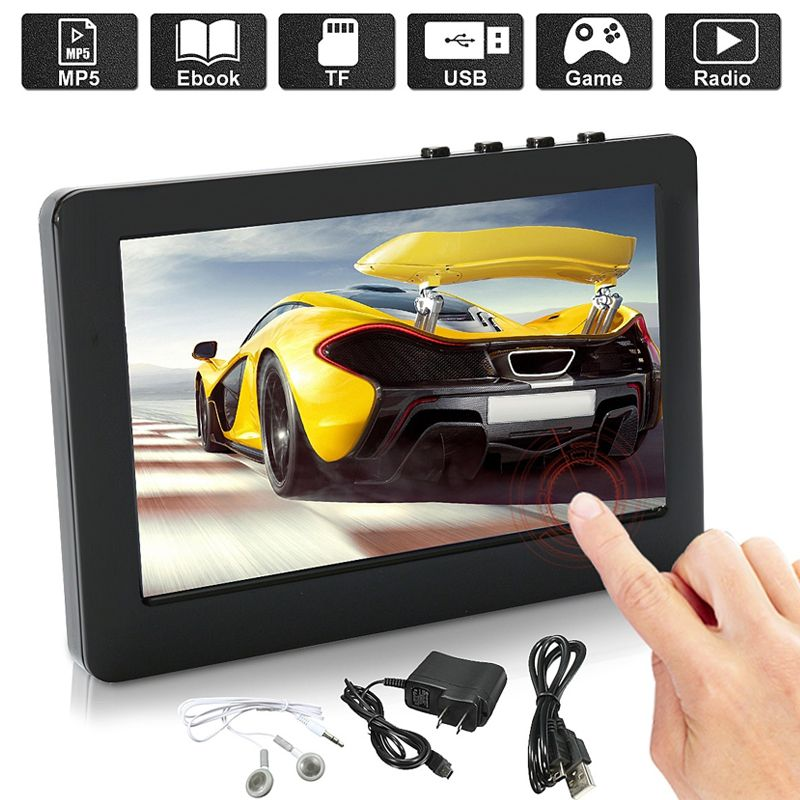 BCMaster player Premium mp4 Tragbaren mp4-player e-buch Fm radio Recorder Touchscreen MP5 mp3-player Musik Video dropshipping