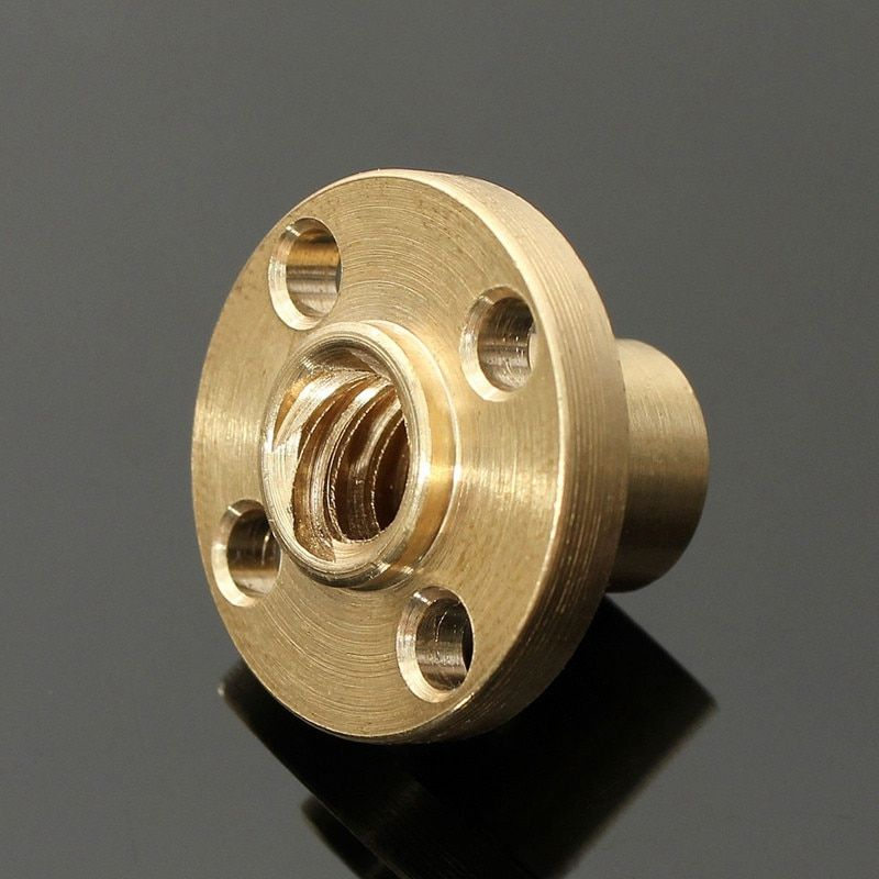 3D printer Accessories 22mm Flange Brass Nut for CNC 3D Printer 8mm stainless steel 4-Start Lead Screw