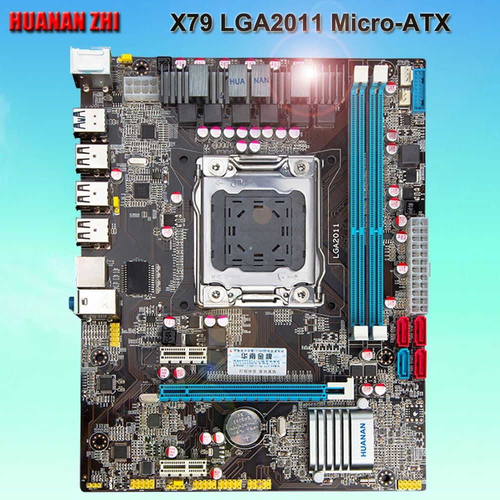 Good computer supply discount motherboard HUANAN ZHI X79 motherboard X79 LGA2011 micro-ATX motherboard with SATA3.0 port tested