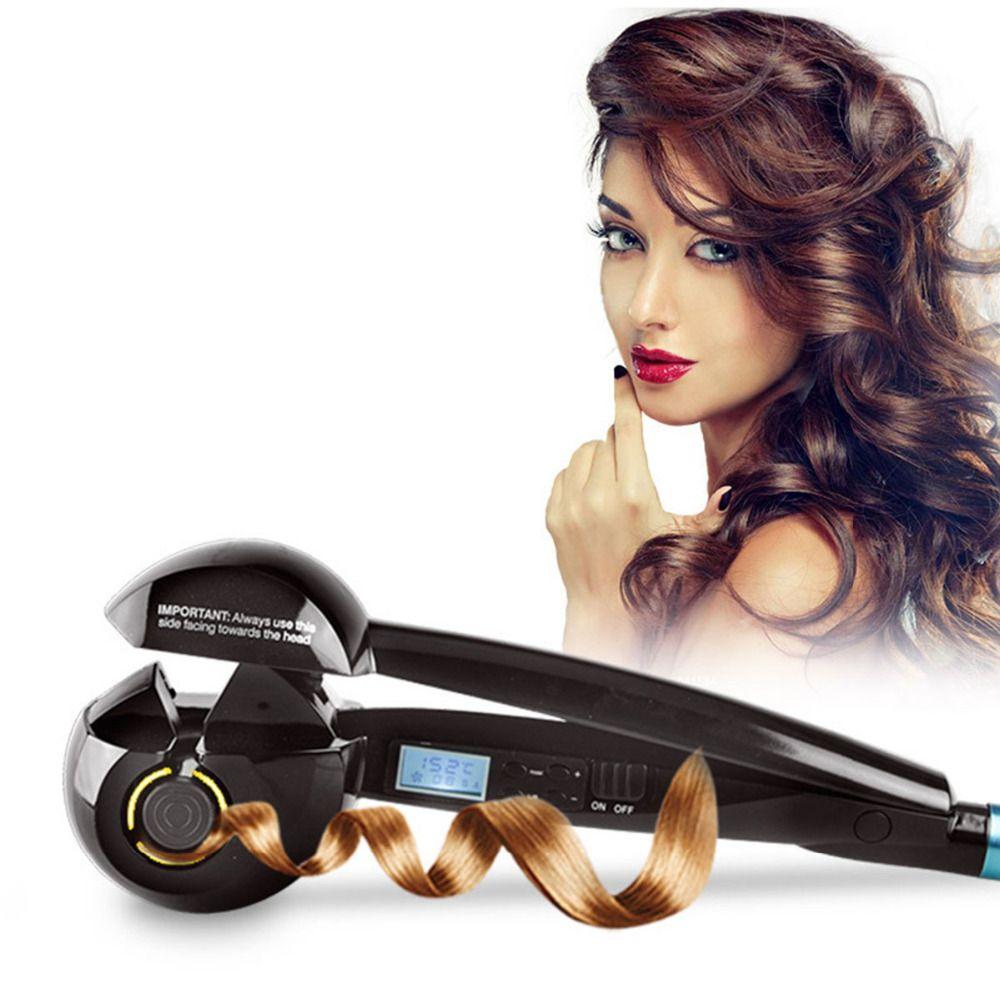 Écran LCD fer à friser automatique chauffage soins des cheveux outils de coiffure vague en céramique cheveux Curl magique bigoudi