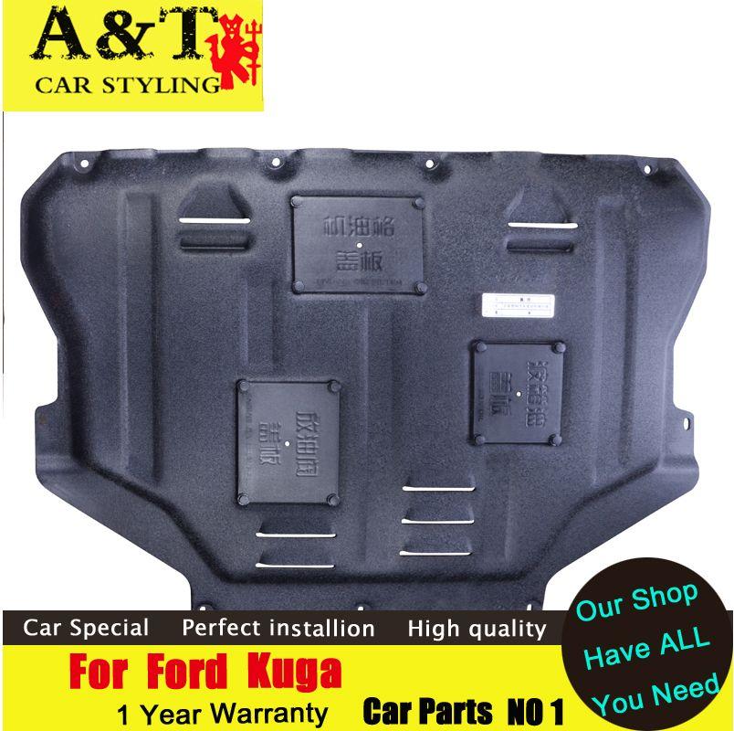 Auto styling Für Ford Kuga Escape Kunststoff motor schutz 2013-2018 Für Kuga Motor skid platte kotflügel legierung stahl motor schutz