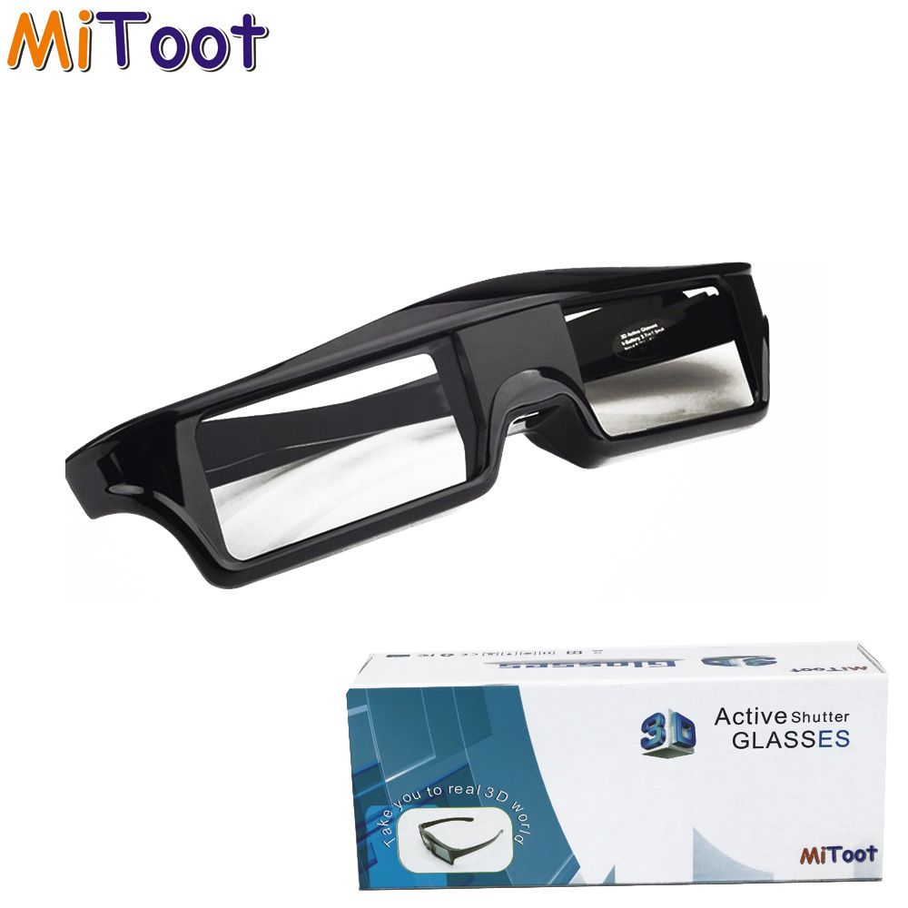 MiToot Active <font><b>Shutter</b></font> 3D glasses for Sony TV EPSON projector TW6600/5350/5200/5030UB/5040UB & 2012~2016 years bluetooth RF 3d TV