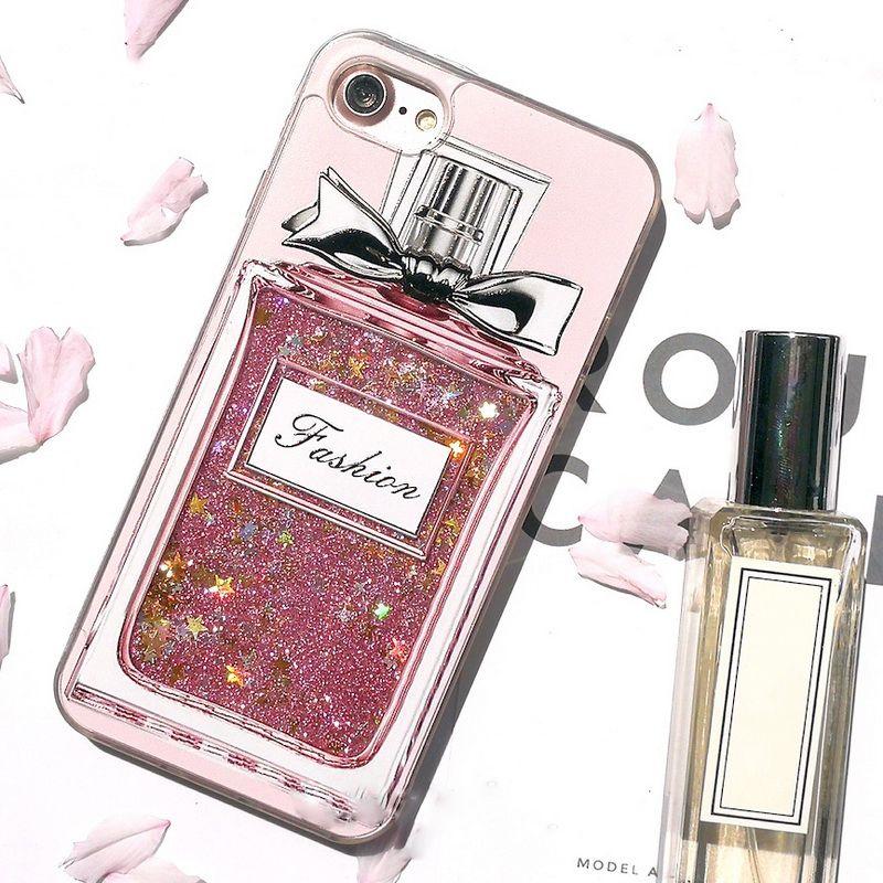Новая мода Bling жидкость зыбучие пески флакон духов телефона чехол для iphone 8 7 плюс 6 6S плюс розовый чехол блеск девушка САППУ крышка