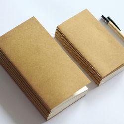 Standard/Poche Kraft Cahier de Papier Blanc Dot Grille Bloc-Notes Journal Journal Voyageur de Recharge Planificateur Organisateur Papier De Bourrage