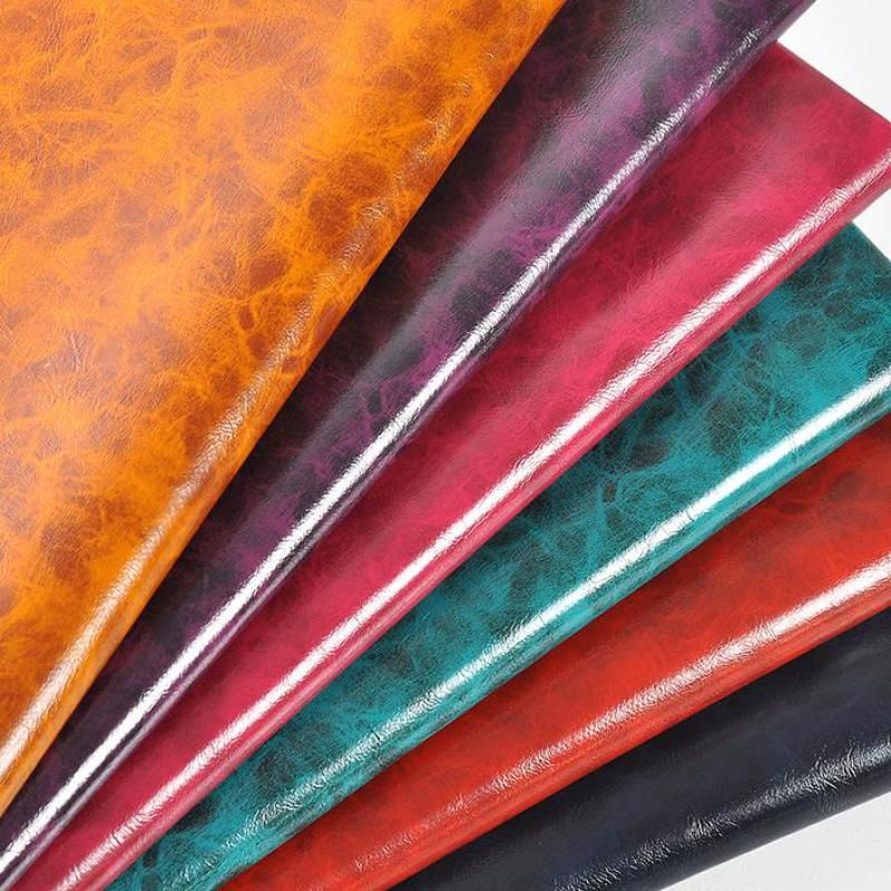Oil Pu Imitation Leather Material For Bag Shoes Furniture Thick Artificial Leather Fabric Textiles Leatherette Tecido by meter