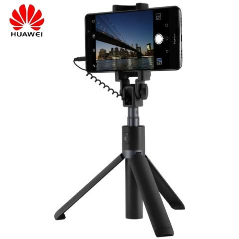 Original Huawei Honor <font><b>Selfie</b></font> Stick Tripod wired monopod for android IOS smart phone portable Extendable Handheld Shutter Holder