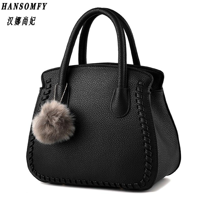 100% Genuine leather Women handbags 2018 New package female Korean fashion style female air bag Messenger shoulder handbag