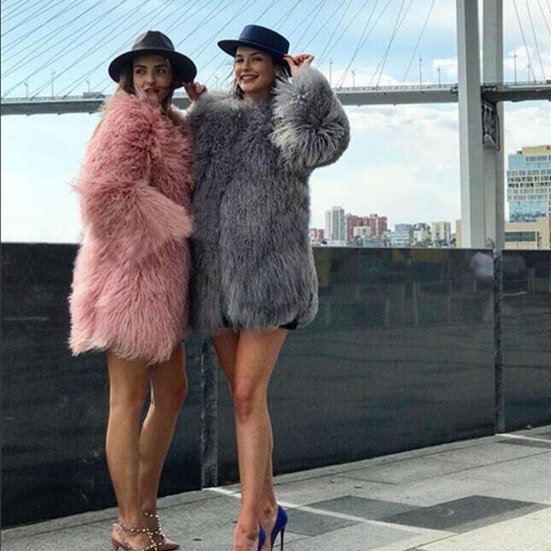 CNEGOVIK womens lamb fur coat tan sheep fur coats short Sheep skin jacket 75cm Mongolia Sheep Fur real fur coat