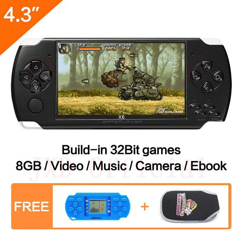 FreeShipping 4.3''Handheld Game <font><b>Console</b></font> 8GB Portable Video Game built-in 1200+real reano-repeat free classic games support MP3/4