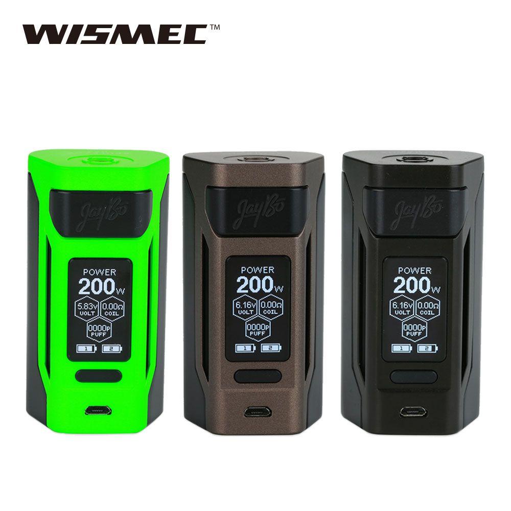 WISMEC Reuleaux RX2 20700 200W TC MOD with Dual 20700 Batteries 6000mAh 1.3inch Large Screen e cigs Vaping RX 2 BOX MOD