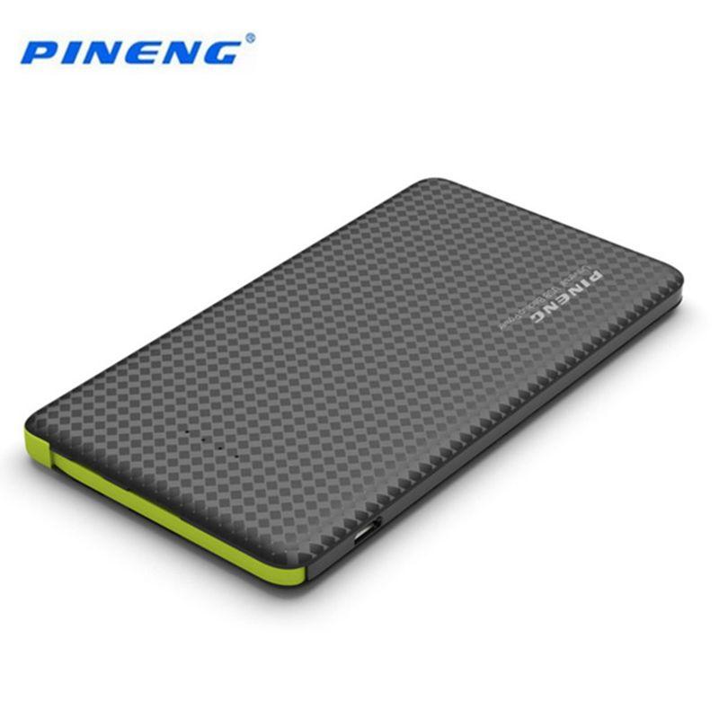 Origine PINENG 5000 mAh Puissance Banque Rapide De Charge de Batterie Externe Portable Chargeur Li-polymère Batterie Pour Mobile Téléphones
