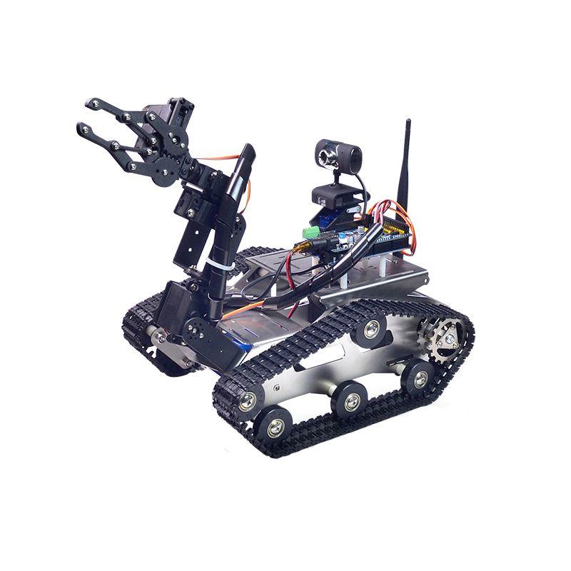Xiao R DIY Intelligente Roboter Wifi Video Control Tank mit kamera Gimbal für Kinder Kinder Erwachsene Geburtstag Weihnachten Lustiges Geschenk präsentieren
