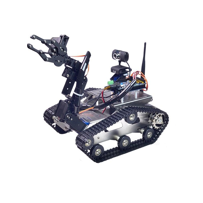 Xiao R DIY Smart Robot Wifi Video Control Tank with Camera Gimbal for Kids Children Adult Birthday Christmas Funny Gift Present