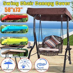 SGODDE 148x185cm Colorful Replacement Outdoor Indoor Courtyard Top Cover Swing Chair Canopy For Garden Hammock Tent Swing Cover