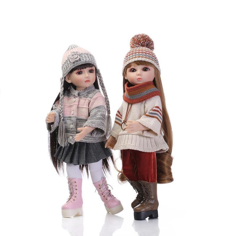 NEW 45CM Realistic Girl Doll Looking American Girl Princess Baby Dolls 18 Inch Safe Full Vinyl Girl Dolls for Kids Gift NPK COLL