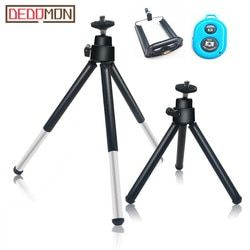 Flexible Mini Tripod for Phone Lightweight Aluminum Metal Tripods Stand Mount with Phone Clip Tripods for Xiaomi iPhone 5s/6/6s7