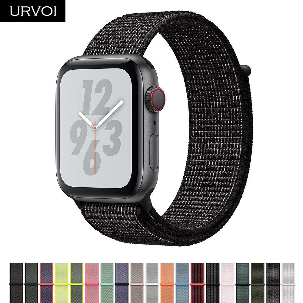 URVOI Fall 2018 Sport loop for apple watch series 4 3 2 1 reflective strap for iWatch band for NIKE+ double-layer HOOk&LOOP