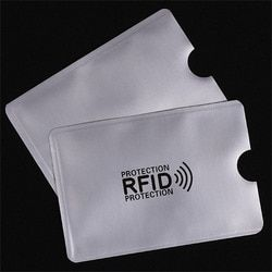 OWGYML 10pcs/set RFID Shielded Sleeve Card Blocking 13.56mhz IC card Protection NFC security card prevent unauthorized scanning