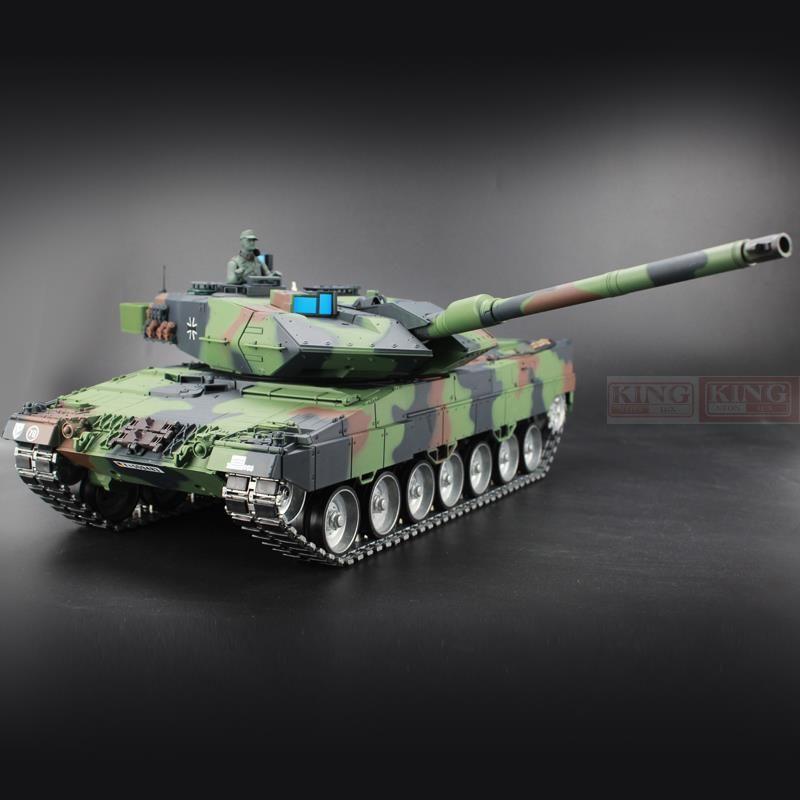 Heng Long 1/16 Deutschland Leopard 2A6 Grün RC Behälter Grün Ultimative metall version Mit Rauch, Sound und BB Gun-2,4 GHz Version
