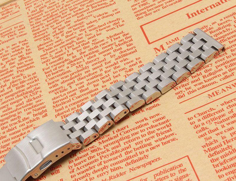 Bracelet bracelet bracelet en argent 18mm 20mm 22mm 24mm 26mm bracelet de montre en acier inoxydable en métal de haute qualité pour hommes femmes heures