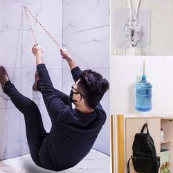 Hotselling 1 piezas Strong transparente ventosa ganchos de pared Hanger cocina baño KitchenDining & Bar herramienta