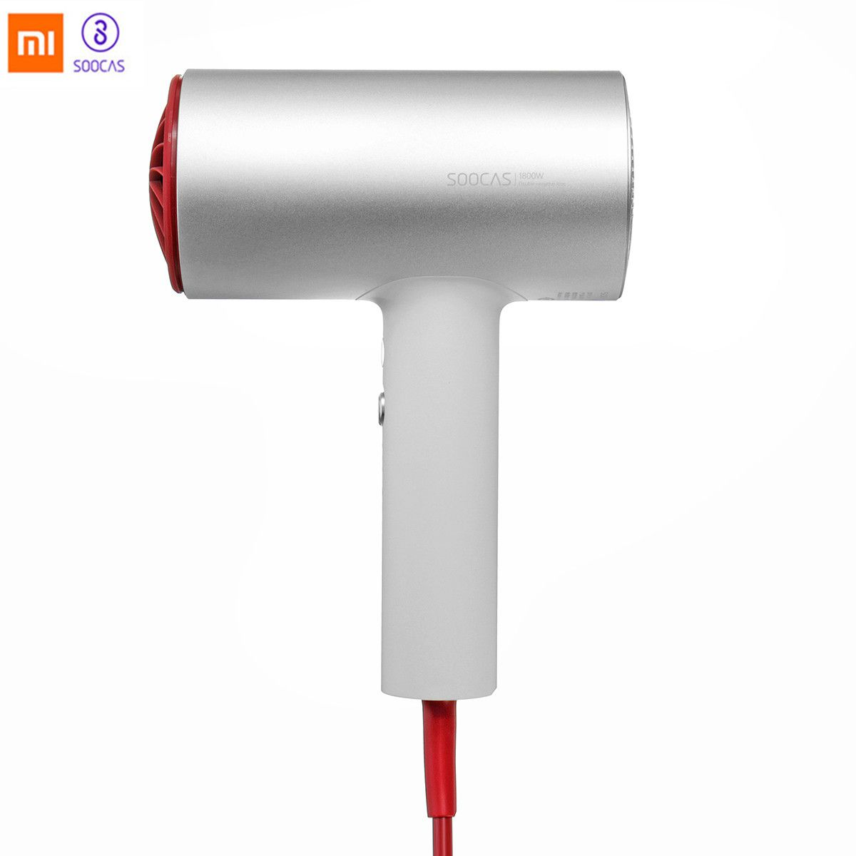 (International Version) Xiaomi Soocas H3 Original Anion Hair Dryer Quick-dry Hair Tools 1800W Air Outlet Anti-Hot Innovative EU