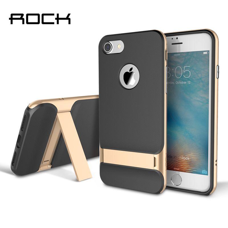 TPU + PC Pour iPhone 6 6 S 7 Plus Cas Original Rock Royce Titulaire série De Luxe Béquille Cas Pour iPhone 6 7 Plus Téléphone Retour Couvre