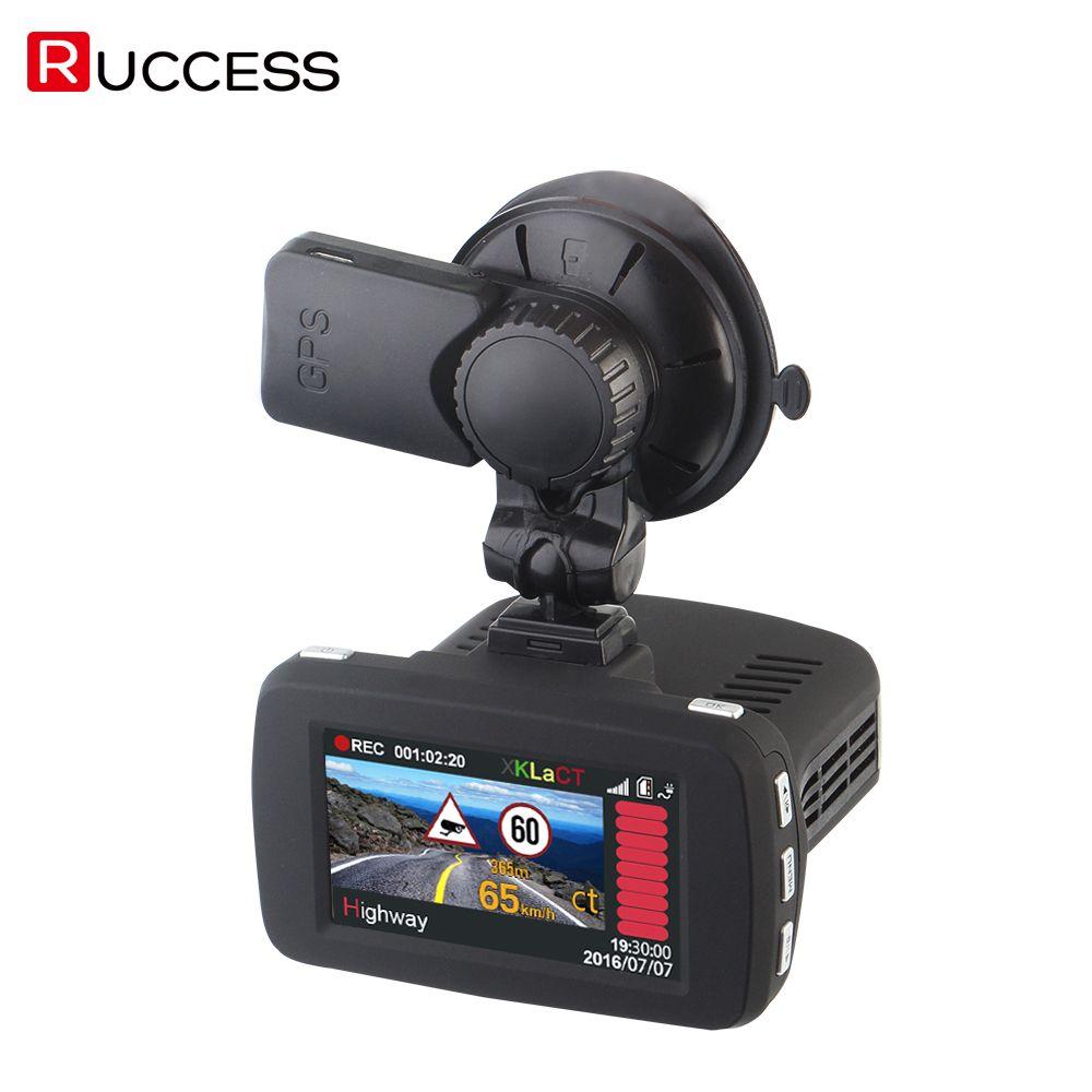 3 In 1 Ambarella A7LA50 GPS Car Camera DVR DVRS Anti Radar Car Detector Dash Cam Video Recorder 1296p Speedcam HD 1080p Strelka