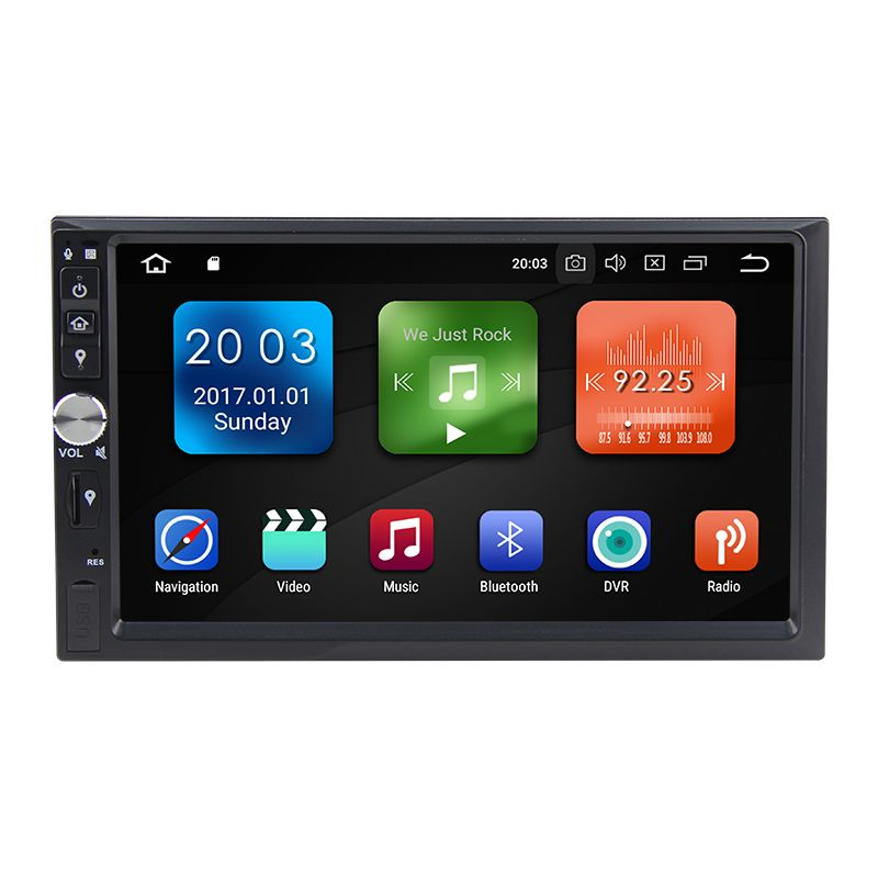 Ultra-dünne Android 8.0 Octa Core 4g RAM 32g ROM 2 Din GPS Navigation 7 Auto DVD multimedia für Universal mit Radio/BT/RDS