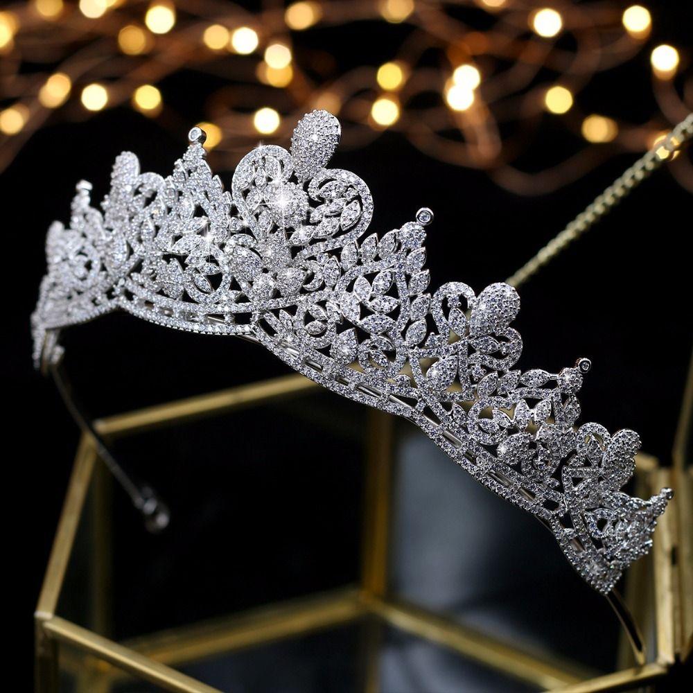 Asnora coroa de noiva Kristalle Hochzeit Tiaras Braut Kronen Braut Haar Zubehör tiara nupcial