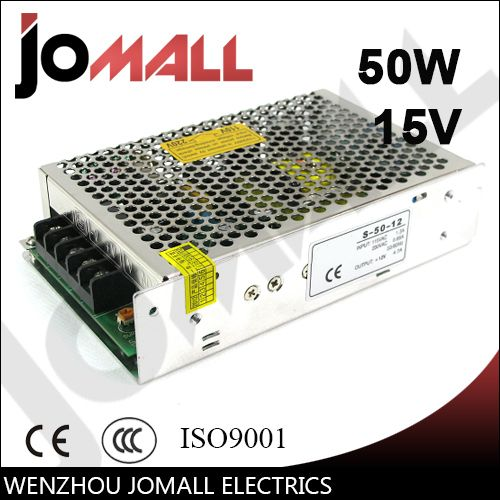 50w 15v 3.4a Single Output switching power supply