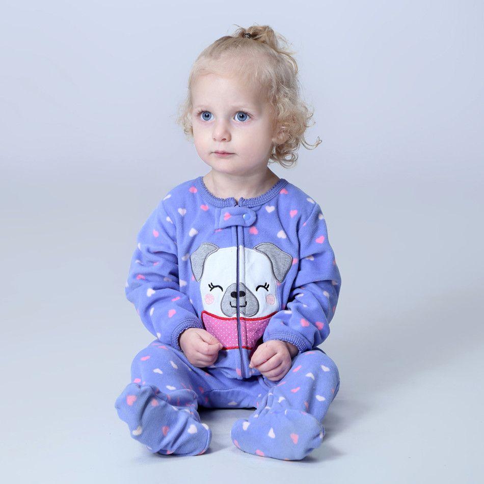 Orangemom boutique officielle bébé fille vêtements, polaire un morceaux combinaisons Pyjamas doux, 0-24 m bébé vêtements bébé costumes barboteuse