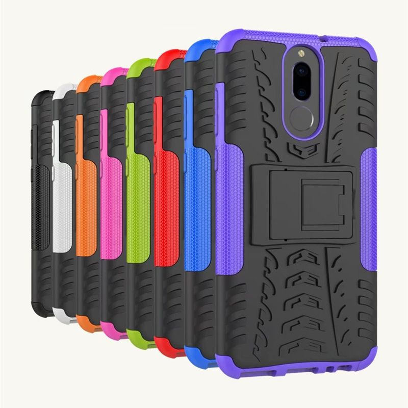 Heavy Duty Robot Stand Armor Case For HuaWei Mate 10 Lite Nova P10 Plus P9 Pro 8 Honor V9 7 6C 6X 5 5A 5C 5X Y3 Y5 Y6 II
