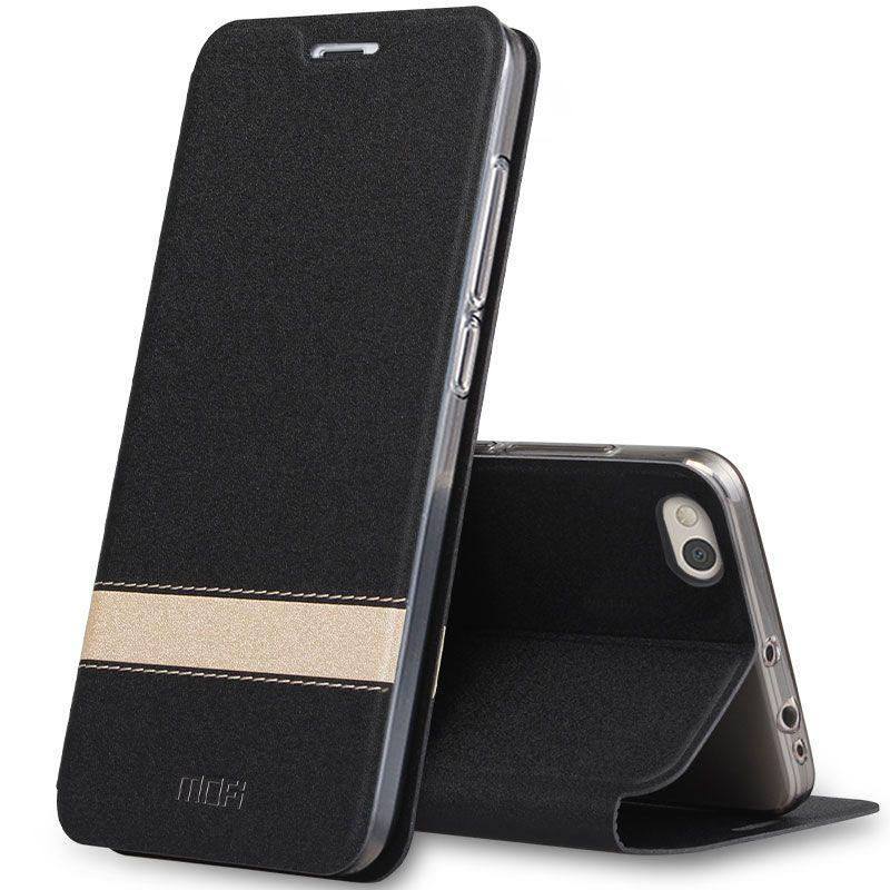 Nouvelle mode D'origine MOFI pour Xiao mi 5 X Cas de luxe Magnétique pu Cuir Flip Smart Case Pour Xiao mi mi 5 S 5 S Plus revêtement arrière cas