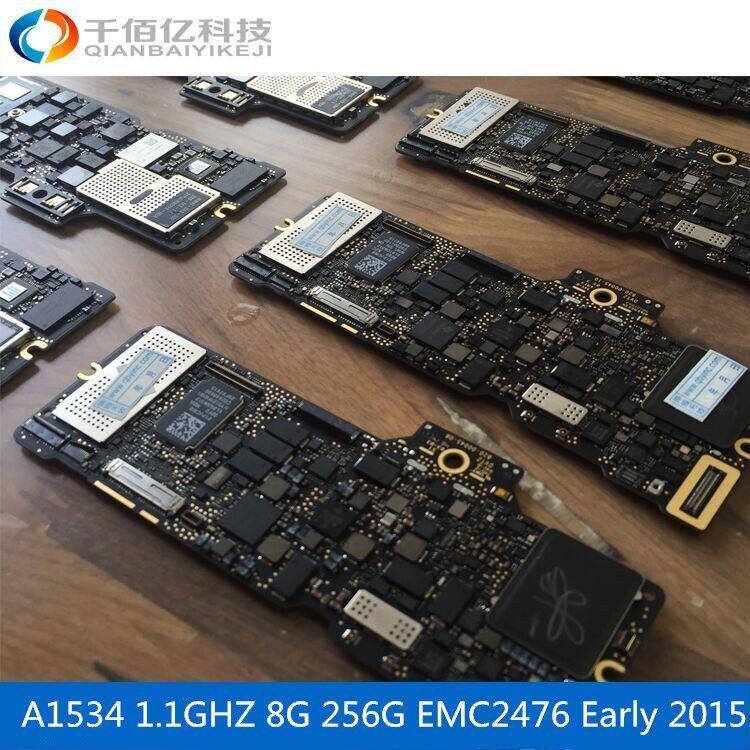 Laptop Mother board A1534 Logic board For MacBook 12' MF855 8G 1.1Ghz Early 2015