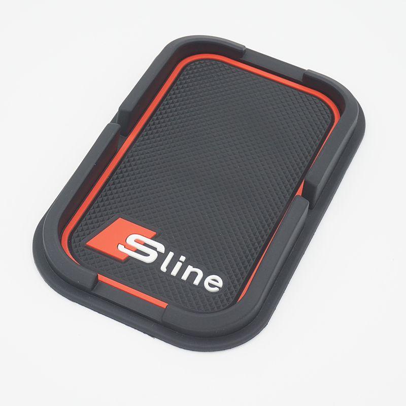 Sline Car Mobile Phone Holder S line Anti-Slip Mat Pad Car Accessories For AUDI A4 B6 C5 A3 A5 B8 Q5 A6 C6 B7 Q7 B5 Car-styling
