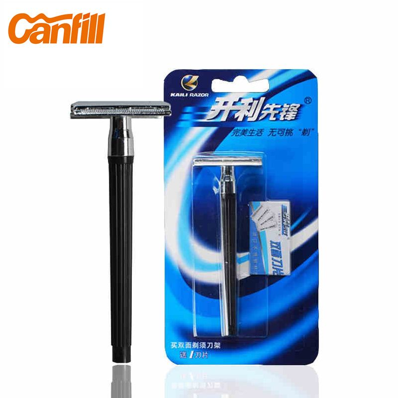 Canfill classic double edge safety razor for men adjustable Stainless Steel Manual shaving machine razor blades Barbeador KL-210