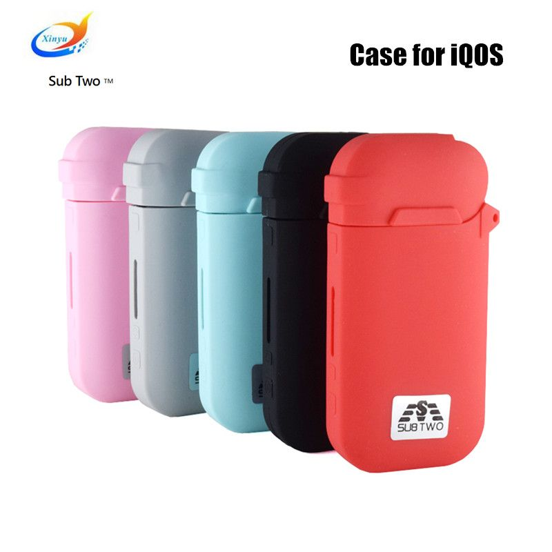 Case for iQOS Silicone Rubber Sleeve Protective Waterproof Anti Scratch Cover Skin Case Bag For IQOS Electronic Cigarette